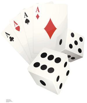 Vegas Cards And Dice Lifesize Cardboard Cutout