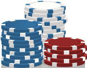 Vegas Chips Lifesize Standup