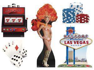 Vegas Party Theme Set Lifesize Standups
