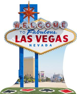 Vegas Sign Lifesize Standup