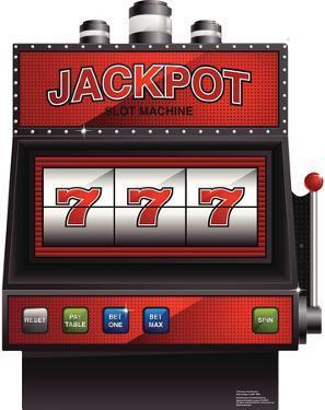 Vegas Slot Machine Lifesize Cardboard Cutout