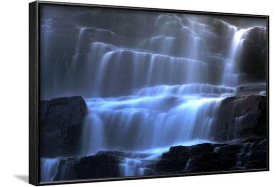 Veil Fall Water Cascading Down Tvindefossen Waterfall--Framed Photographic Print