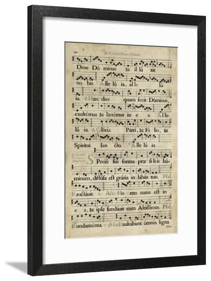 Vellum Songbook II--Framed Art Print