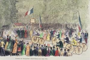 Velocipede Race at Saint-Cloud, 31st May, 1808