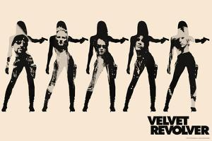 Velvet Revolver - Cream Band Silhouette