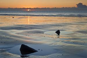 Beautiful Low Tide Beach Vibrant Sunrise by Veneratio