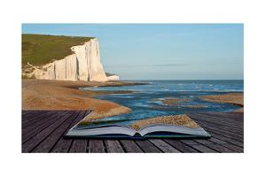 Creative Concept Image Of Seascape In Pages Of Book by Veneratio