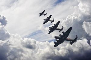 World War Two British Vintage Flight Formation by Veneratio