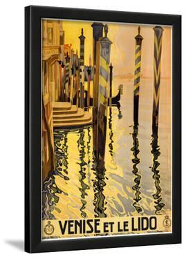 Venice Italy Tourism Travel Vintage Ad Poster Print