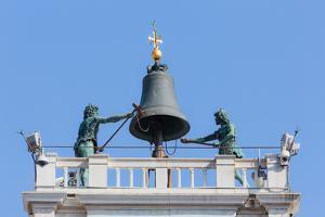 Venice, Venice Province, Veneto, Italy. Torre dell'Orologio, or the Clock Tower, in Piazza San M...