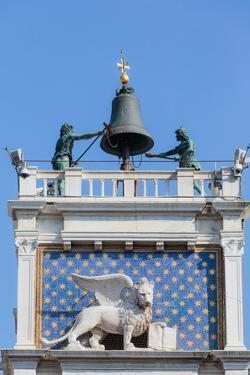 Venice, Venice Province, Veneto, Italy. Torre dell'Orologio, or the Clock Tower, in Piazza San M...