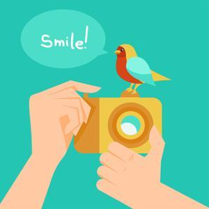 Digital Camera And Cartoon Bird by venimo