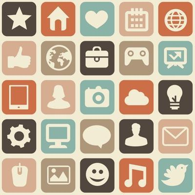 Pattern With Social Media Icons by venimo