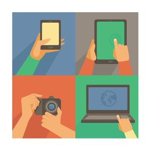 Set Of Flat Icons - Mobile Phone, Laptop by venimo