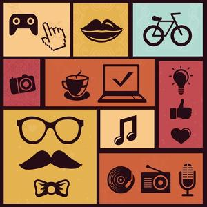 Trendy Hipster Icons by venimo