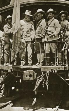 Venustiano Carranza on Board a Train with His Officers, 1914-20