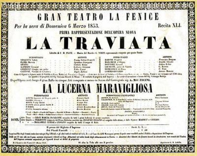 Verdi Opera La Traviata