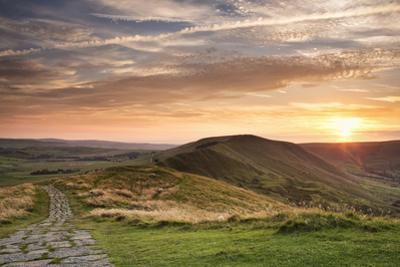 Sunset from Mam Tor, Peak District by Verity E. Milligan