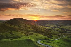 Winding Road beneath Mam Tor, Peak District by Verity E. Milligan