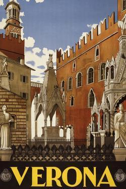 Verona Italy Tourism Travel Vintage Ad
