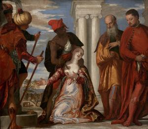 The Martyrdom of St. Justine, c.1555 by Veronese
