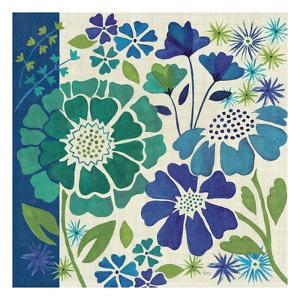 Blue Garden I by Veronique Charron