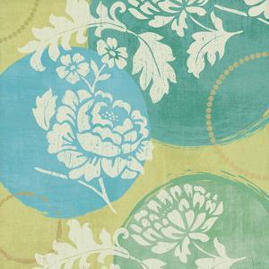 Floral Decal Turquoise I by Veronique Charron