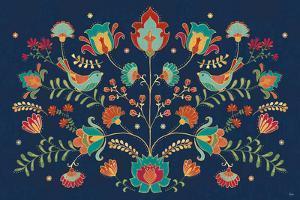 Folk Floral I Dark by Veronique Charron