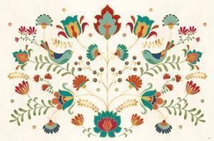 Folk Floral I by Veronique Charron