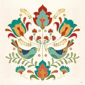 Folk Floral III by Veronique Charron