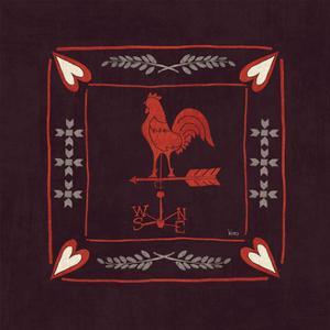 Little Red Farm Tile IV by Veronique Charron