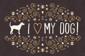 Otomi Dogs I Dark Neutral by Veronique Charron