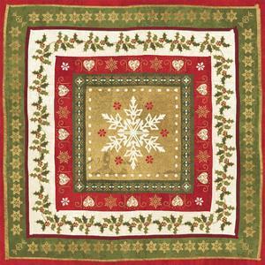 Simply Christmas Tiles I by Veronique Charron