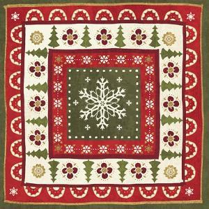 Simply Christmas Tiles II by Veronique Charron
