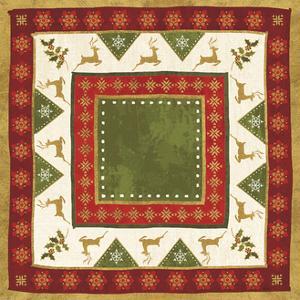 Simply Christmas Tiles III no Snowflake by Veronique Charron