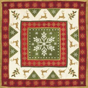 Simply Christmas Tiles III by Veronique Charron