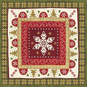 Simply Christmas Tiles IV by Veronique Charron