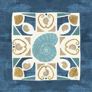 Undersea Blue Tile IV by Veronique Charron