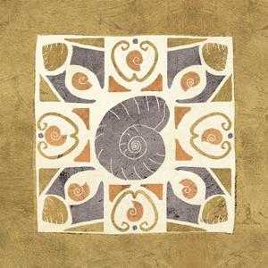 Undersea Gold Tile IV by Veronique Charron