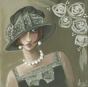 Femme Chapeau Gris by Véronique Didier-Laurent