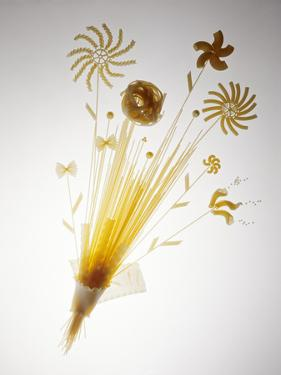 Pasta Arranged In the Shape of a Flower by Veronique Leplat