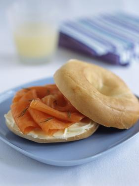 Smoked Salmon Bagel by Veronique Leplat