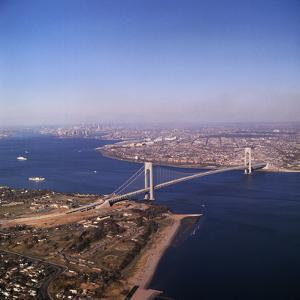 Verrazano Bridge between Brooklyn and Staten Island