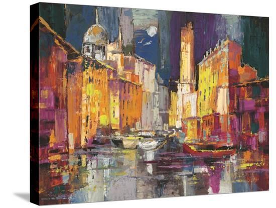Verso il porto immaginario-Luigi Florio-Stretched Canvas Print