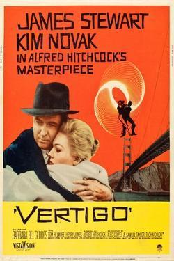 Vertigo, James Stewart, Kim Novak, 1958