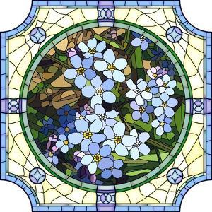 Illustration of Flower Blue Forget-Me-Not by Vertyr