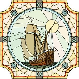 Illustration Of Sailing Ships Of The 17Th Century by Vertyr