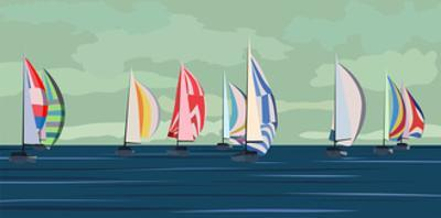 Sailing Yacht Regatta by Vertyr