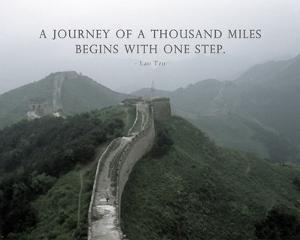 A Journey Of A Thousand Miles Quote by Veruca Salt