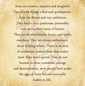 Aries Character Traits by Veruca Salt